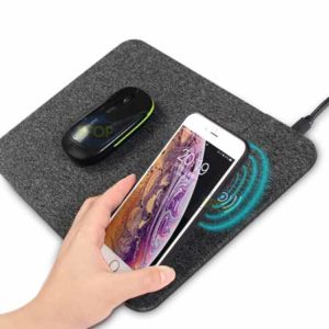 Mouse pad charging mouse